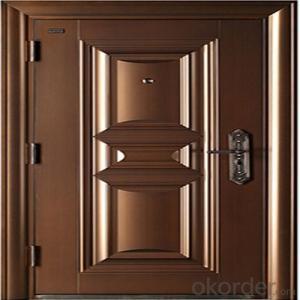 Apartment Buildings Bronze Door Entrance Copper Security Door