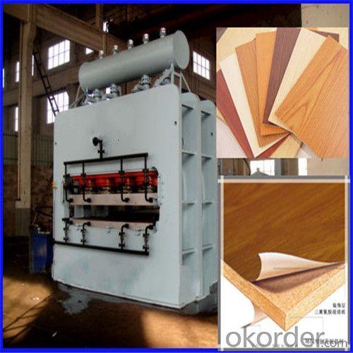 Particle Board Short Cycle Melamine Laminating Hot Press Machine