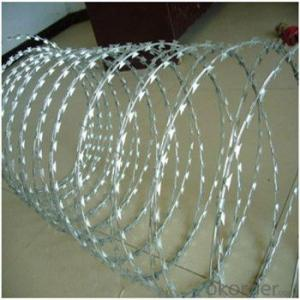 Galvanized Razor Wire for Military High Quality Galvanized Low Price