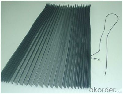 Polyester Plisse Insect Screen Mesh Polyester Pleated Mesh for Window
