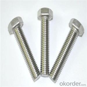 Zinc Plated Hex Bolt DIN933 &DIN934 Grade4.8,Grade8.8