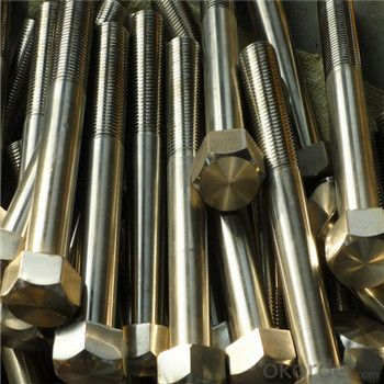 Hexagonal Bolts Hot Dipped Galvanizing Grade 8.8 DIN933 Full Thread