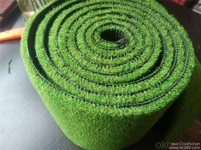PE Monofilament & PP Curly Landscaping Artificial Grass Lawn