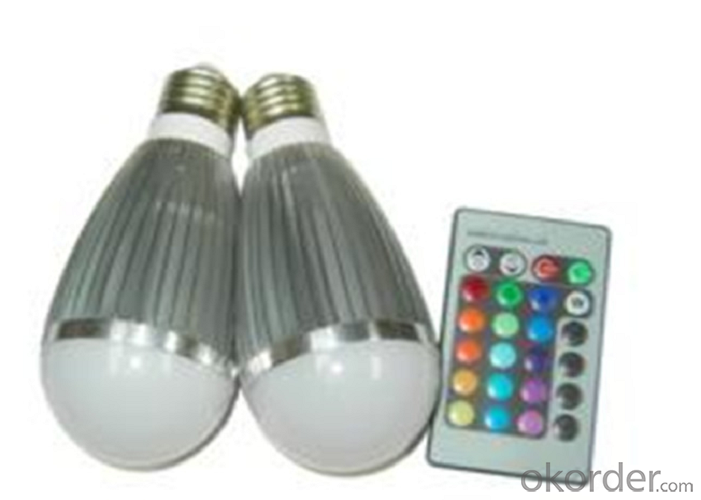 3Watt RGB Led Bulb with Remote Controller