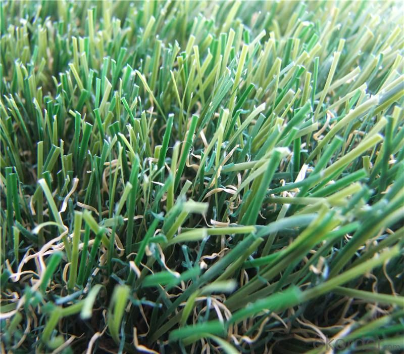 PE Monofilament & PP Curly Landscaping Artificial Grass Lawn For Wedding