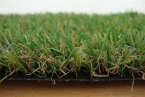 Natural Decorative Landscaping Artificial Turf  With 4color