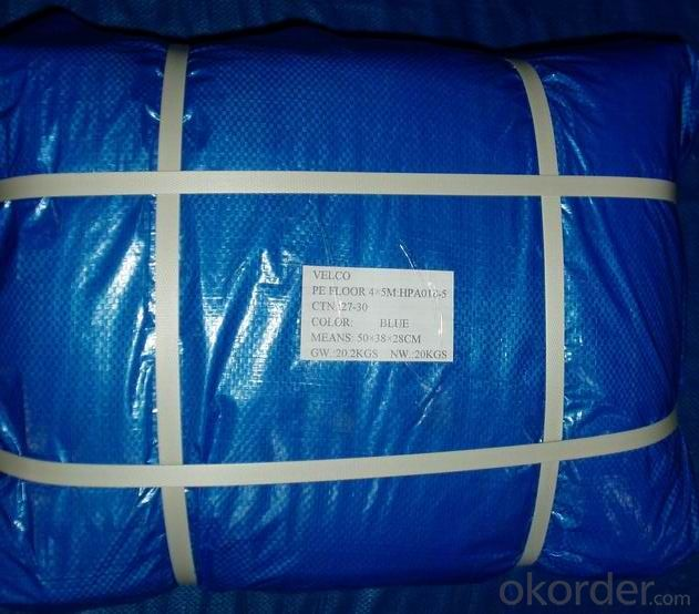 Orange PE Tarpaulin 3X4M Blue Poly Tarpaulin