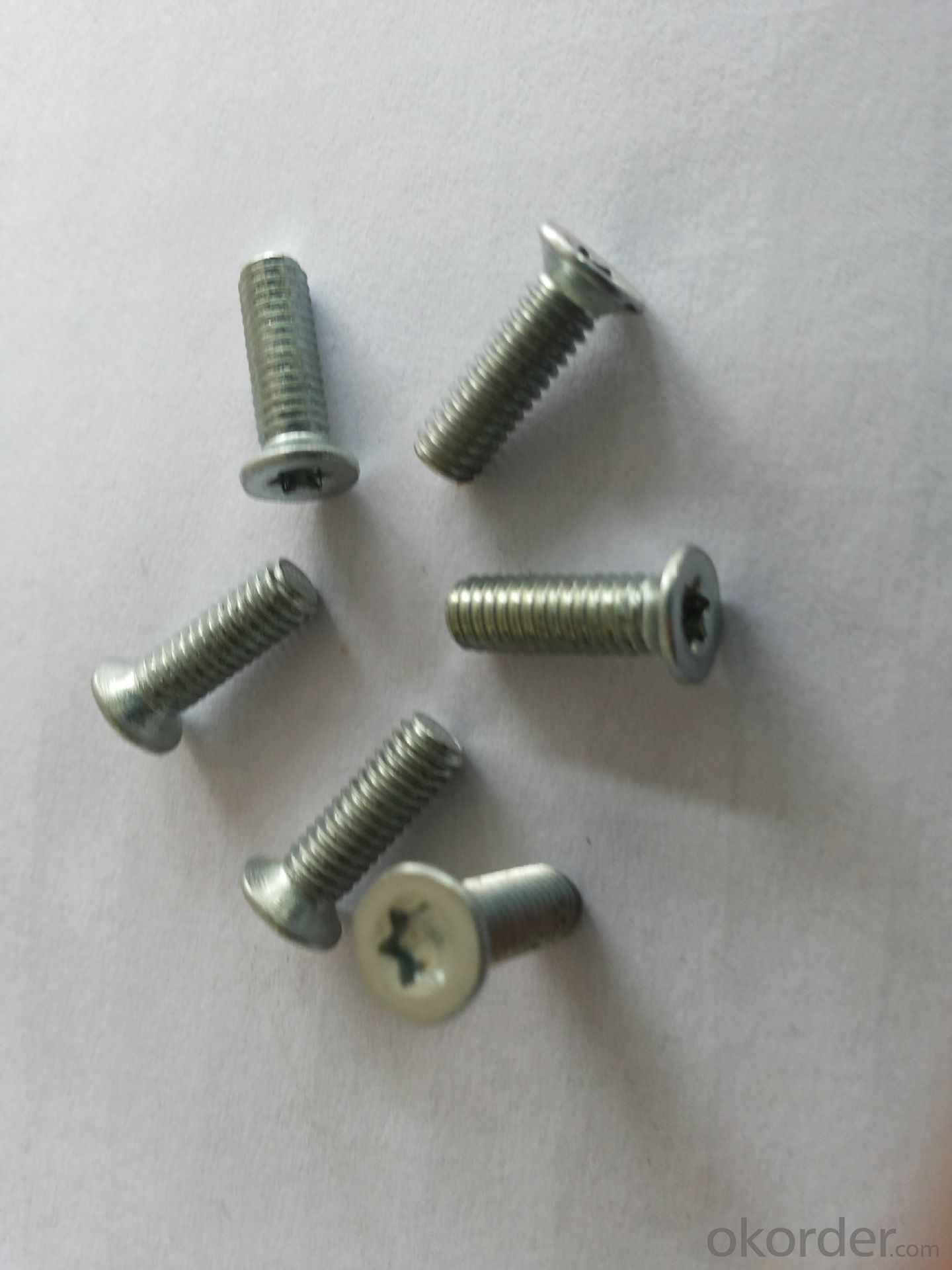 Customized High Strength White Znc Plating Square Socked Tapping Screw,Self  Tapping Screws