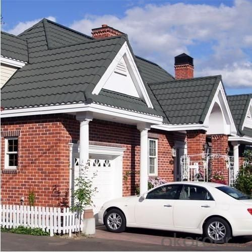 Waterproof Stone Colorful Coated Roof Tiles