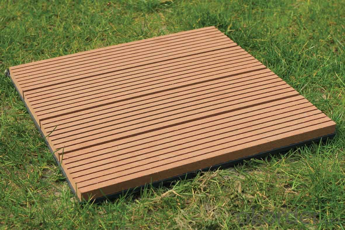 Waterproof Hollow Outdoor WPC Decking, Composite Wood Decking Board
