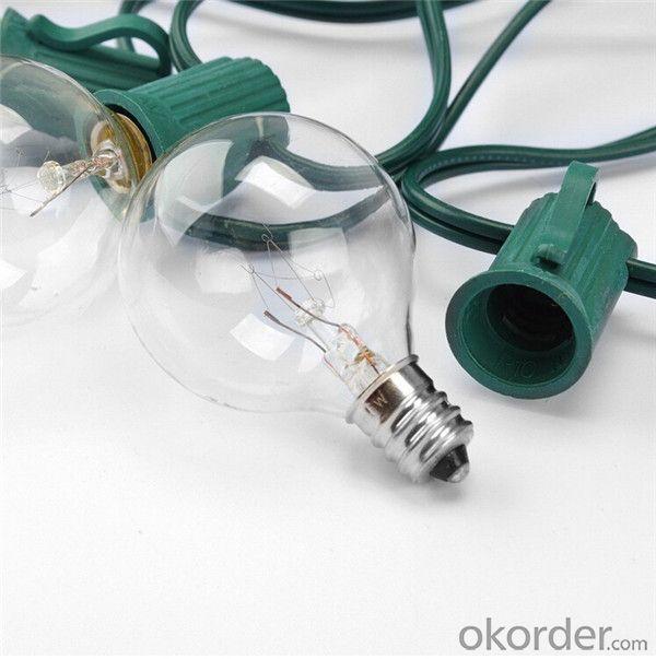 UL Approved Christmas Light  Replacement Christmas Mini Light Bulbs G40