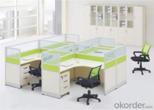 Steel and MFC Executive Desk of Four Seater