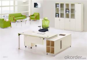 MFC Office Furniture Desk with Steel Feet