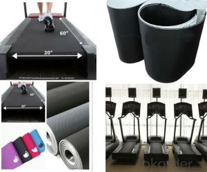 Black PVC Treadmill Conveyor Belt Running Belt for Fitness