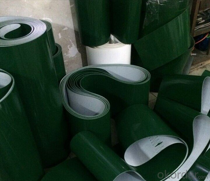 Anti Static PVC Conveyor Belt Green PVC Belt