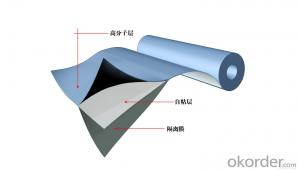 Self Adhesive Modified Asphalt  Waterproof Membrane