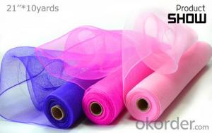 Wholesale Factory Hot Selling Solid Color Deco Mesh for Floral Wrapping