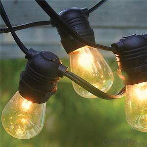UL Listed Outdoor Patio S14 Globe String Lights Fancy String Lights for Decoration