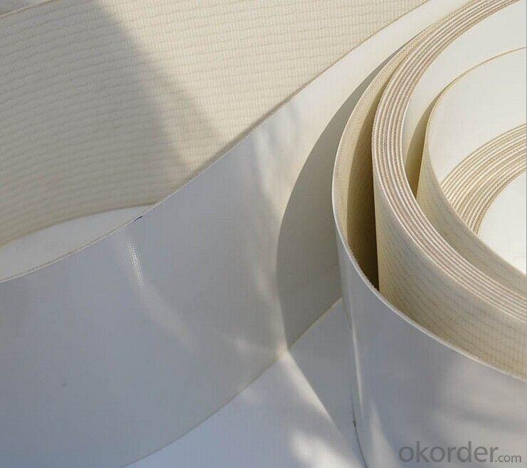 White PVC PU Conveyor Belt in Food Industry