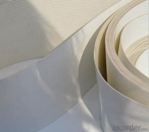White PVC PU Conveyor Belt in Food Industry