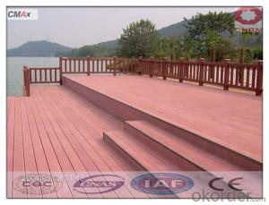 Hollow and Grooved Composite Decking Flooring WPC Board