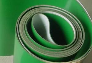 Hygienic Green PVC Conveyor Belts In Food Industry