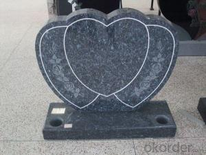 China Black Granite Headstone and Tombstone for Monument and European Design