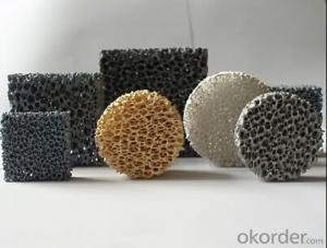 Silicon Carbide Foam Ceramic Filter for Iron or Iron Alloy Casting