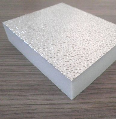 Aluminio Puro Gofrado Pre-aislado for Polyisocyanurate (PIR) Rigid Foam Panel