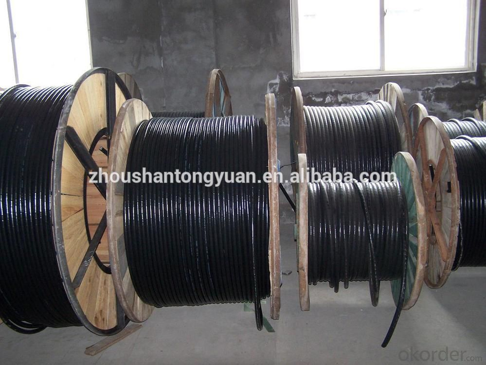 8AWG copper XLPE insulated steel-tape armoured transparent pvc sheathed power cable