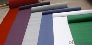 Nonwoven Exhibition Carpet with Film Coated for Fair Exhibition