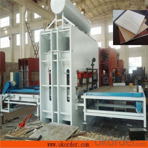 Hydraulic Plywood Melamine Paper Veneering Hot Press Machine