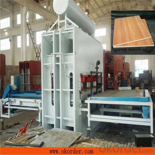 CE Certificated Melamine Short Cycle Press Machine