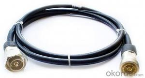 Jumper cable 1/2 Superflex DINM-DINM for Telecommunication