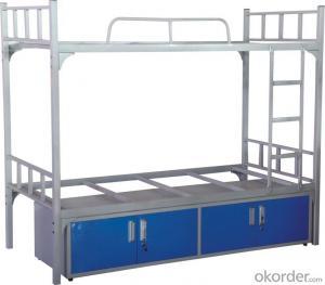 Square Tube Metal Bunk Bed, Fashion Design