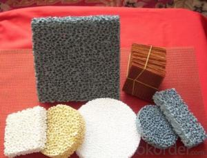 Silicon Carbide Ceramic Foam Filter for Casting with Low Price