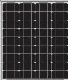 Serie de paneles solares monocristalinos CNBM de 45W, 50W y 125mm