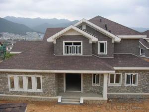 Synthetic Resin Roof Tile Red Asphalt Roof Shingles