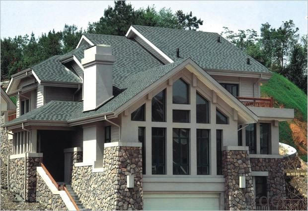 Mosaic Asphalt Colorful Fibreglass Roof Tiles