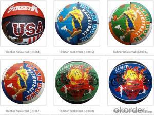 Wholesale Bulk Cheap Standard Custom Rubber Basketballs