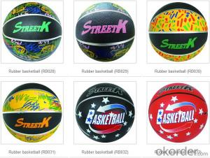 Printed Custom Logo Rubber Basketball