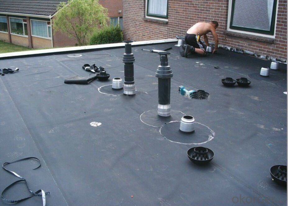 EPDM Coiled Rubber Waterproof Membrane with Customized Thickness for Roofing