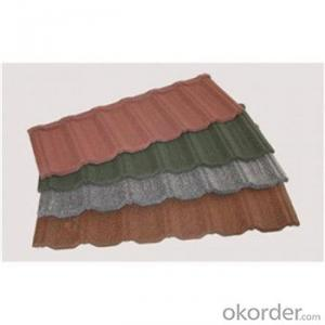 Coloured Stone Coated Metal Roofing Tile Low Price Africa Market