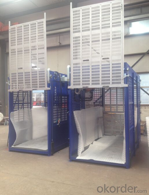 SS100/100 Two Cage 1Ton Building Materials Hoist