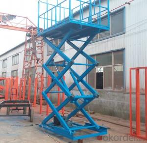 hydraulic platform of scaffolding for repairing in aerial work