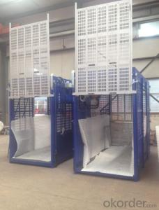 Single/Double Cage Building Hoist With CE and ISO Approved