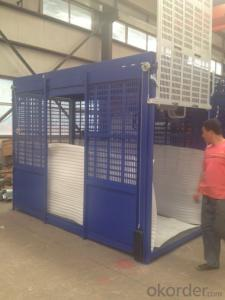 Double Cabin Construction Building Hoist for Storey Floors