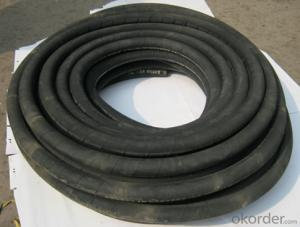 PU lined 8 inch fire hose /EN694 list Black PVC fire hose