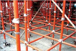 PAINTED SUPPORTING CUP-LOCK SCAFFOLDING FOR SUPPORT FORMWORK POURING CONCRETE