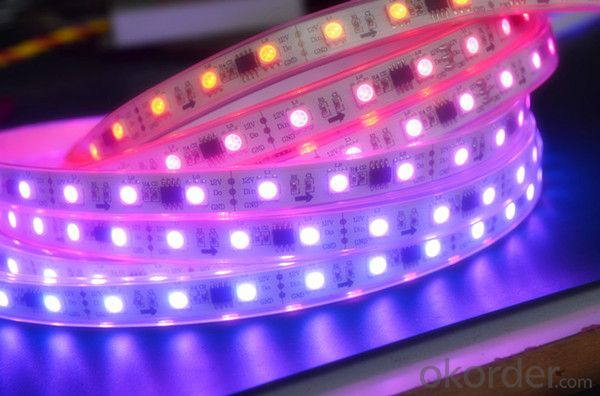 5730 LED RGB Strip Light 8.3w/m PVC Material 220v IP65 with 1 Year Warranty